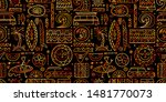 surfing seamless pattern.... | Shutterstock .eps vector #1481770073