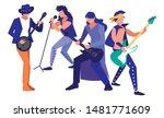 people musicians concert event... | Shutterstock .eps vector #1481771609