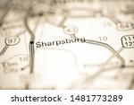 Sharpsburg. North Carolina. USA on a geography map