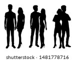 vector silhouettes of  men and... | Shutterstock .eps vector #1481778716