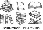 vector illustration of books... | Shutterstock .eps vector #1481792486