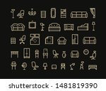furniture  line icon set.... | Shutterstock .eps vector #1481819390