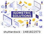 set of isometric design... | Shutterstock .eps vector #1481822573