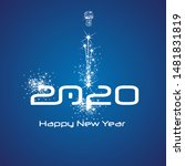 new year 2020 cyberspace... | Shutterstock .eps vector #1481831819