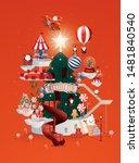 christmas santa's town... | Shutterstock .eps vector #1481840540