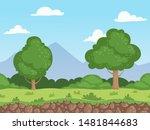 seamless cartoon landscape....