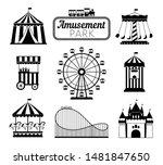 amusement park black icons.... | Shutterstock .eps vector #1481847650