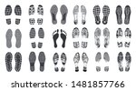 footprint steps. barefoot ... | Shutterstock .eps vector #1481857766