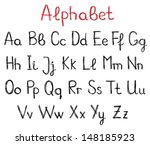 hand drawn alphabet letters | Shutterstock .eps vector #148185923