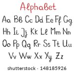 hand drawn alphabet letters | Shutterstock . vector #148185926