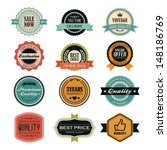 set of retro vintage badges and ... | Shutterstock .eps vector #148186769