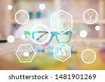 social network theme drawing... | Shutterstock . vector #1481901269
