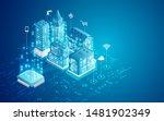 concept of smart city ... | Shutterstock .eps vector #1481902349