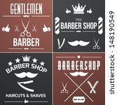 barber web collection | Shutterstock .eps vector #148190549