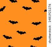 Bat Halloween Seamless Patter...