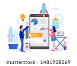 startup business illustration... | Shutterstock .eps vector #1481928269