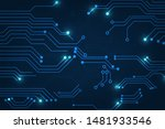 vector abstract technology with ... | Shutterstock .eps vector #1481933546