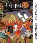 happy halloween  vector...   Shutterstock .eps vector #1481937950