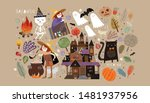 set of cute objects for happy... | Shutterstock .eps vector #1481937956