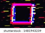 an illuminated square frame... | Shutterstock .eps vector #1481943239