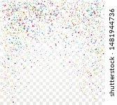 festive colorful star confetti...   Shutterstock .eps vector #1481944736