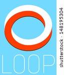 vector minimal design   loop  | Shutterstock .eps vector #148195304