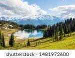 Image Lake And Glacier Peak In...