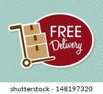 free delivery over lineal... | Shutterstock .eps vector #148197320