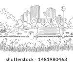 park graphic black white city...   Shutterstock .eps vector #1481980463