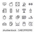 active lifestyle vector line... | Shutterstock .eps vector #1481990390