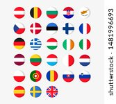 set of europe contries flag on... | Shutterstock .eps vector #1481996693