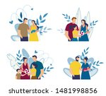 mother with newborn discharge... | Shutterstock .eps vector #1481998856