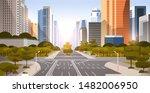 highway asphalt road with... | Shutterstock .eps vector #1482006950