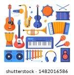 musical instruments   colorful... | Shutterstock .eps vector #1482016586