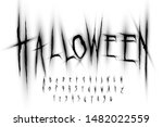 halloween font  letters and... | Shutterstock .eps vector #1482022559