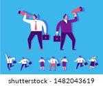 business men looking into a... | Shutterstock .eps vector #1482043619