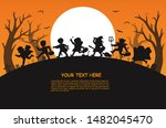 happy halloween. children... | Shutterstock .eps vector #1482045470