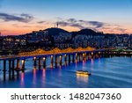 Night View Of Dongho Bridge In...