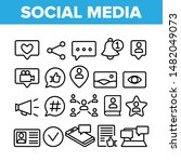 collection social media... | Shutterstock .eps vector #1482049073