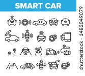 collection smart car elements... | Shutterstock .eps vector #1482049079