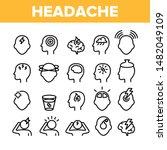 collection headache elements... | Shutterstock .eps vector #1482049109