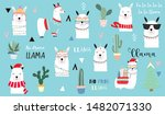 cute animal object collection... | Shutterstock .eps vector #1482071330