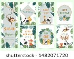 green gold animal collection of ... | Shutterstock .eps vector #1482071720