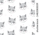 seamless pattern with cute... | Shutterstock .eps vector #1482083039