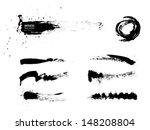 black abstract brush strokes... | Shutterstock .eps vector #148208804