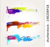 black abstract brush strokes... | Shutterstock .eps vector #148208918