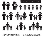 vector black silhouette icon... | Shutterstock .eps vector #1482098606