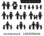 vector black silhouette icon... | Shutterstock .eps vector #1482098606