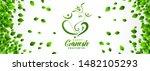 happy ganesh chaturthi festival ... | Shutterstock .eps vector #1482105293