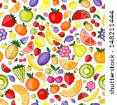 Fruits Seamless Pattern For...